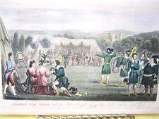 Vintage Print,FAT KNIGHT,Cruikshank,Life in London,1822