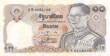 Thailand  10 Baht  ND. 1980  P 87  Prefix 5 B Sign. # 56  Circulated Banknote