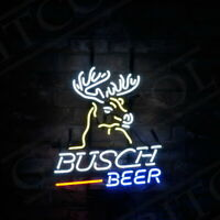 """Busch Beer"" Bar Deer Sign Vintage That Neon Sign Hanging Outside That Bar"