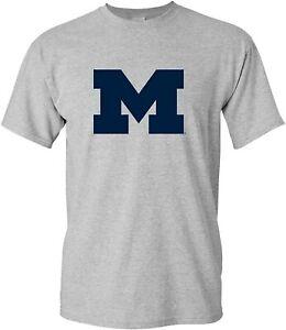Primary Logo University of Michigan Wolverines Licensed Mens T-Shirt Unisex Tee