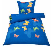 Bettwäsche Schmetterlinge 2-teilig Blau Übergröße 155 x 220 cm Schmetterling