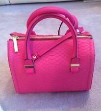 Victoria Beckham Seven  Signature Bag In Neon Pink Python RRP £1695