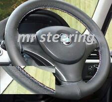 FOR BMW X3 E83 REAL BLACK LEATHER STEERING WHEEL COVER M-TECH STITCH 2003-2009