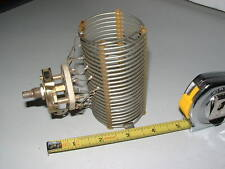 """11 uH COIL & SWITCH for HAM RADIO XMTR or ANT. TUNER; 22 Trns  2"""" DIA, 3.75 Lng"""