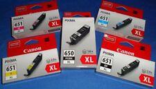 Genuine 5 x Canon PGI650XL CLI-651XL INK for IP7260 MG5460 MG6360 MX726 MX926