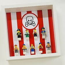 Display case Frame for Lego Classic Pirates minifigures 27cm