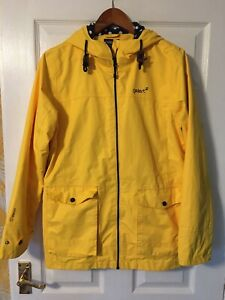 GELERT STORMLITE 5000 Ladies Yellow Hooded Waterproof Jacket Size 14