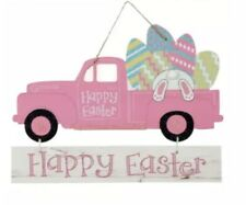 New Happy Easter Truck Pink