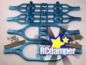 ALUMINUM UPPER+LOWER SUSPENSION ARM B TEAM ASSOCIATED MONSTER GT MGT 21 4.6 8.0