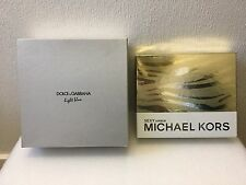 Empty Perfumes Display Boxes Genuine D&G Light Blue & Michael Kors Sexy Amber