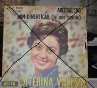 CATERINA VALENTE ITALIEN DECCA ACROBALENO / NON DIMENTICAR 1961