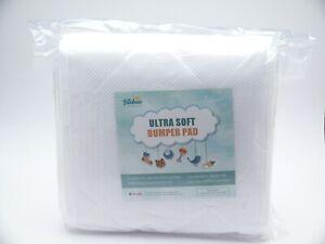 "BILOBAN Ultra Soft Bumper Pad For Mini Crib 52"" x 28"" (WHITE) Brand NEW UNOPENED"