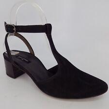 Paul Green Black Suede Women Heels Shoes Size 6  EU 36AL5601