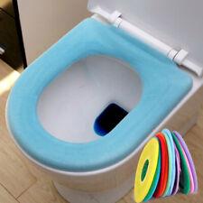 2pcs Washable Warm O Shape Closestool Toilet Lip Seat Cover Mat Pad Cloth set