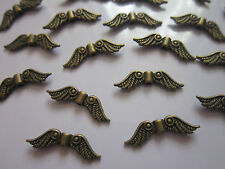 30 Tibetan antique bronze Angel Fairy Wing Charm Spacer  Beads findings 22 mm