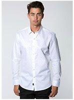 7 Diamonds Men's Mystery Train L/S Shirt White XX-Large