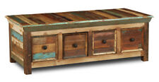 RECLAIMED INDIAN FURNITURE SHEESHAM 4 DRAWER TRUNK COFFEE TABLE (RF7)