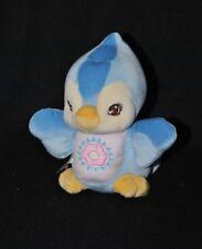 Peluche doudou oiseau FISHER PRICE 1998 bleu rose jaune grelot 17 cm TTBE