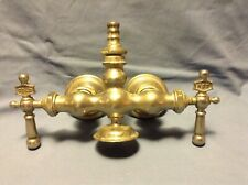 Antique Nickel Chrome Brass Claw Foot Bathtub Mueller Faucet Vintage Cold Hot