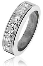 Diamond Half Eternity Ring 1.50ct F VS Princess Cut Wedding Band 18ct White Gold