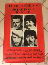 VINTAGE 1983 TALKING HEADS SPEAKING IN TONGUES CASSETTE PROMO POSTER PROMOTIONAL
