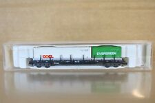 FLEISCHMANN 8250 K DB RUNGENWAGEN WAGON & OOCL EVERGREEN CONTAINER LOAD BOXED np