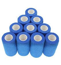 Haftbandage - 12 Rollen 10 cm x 4,5 m, blau, selbstklebend, elastische Bandage