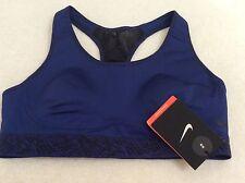 914d08ebc5fcf Nike Pro Fierce Medium Support Padded Bra. Blue Black Print. Small. NEW