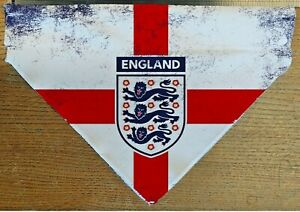 England Football  Dog Cat Bandana Slide on Collar Neckerchief Scarf Handmade