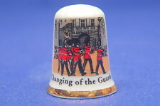 Changing Of The Guard At Buckingham Palace China Thimble B/117