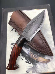 FORGED SAN MAI DAMASCUS HUNTER FIXED BLADE KNIFE FULL TANG SELLER EMAZING DEAL