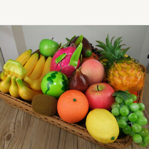 New Artificial Fake Various Fruits Plastic Fruits Kitchen Home Party Decoration