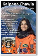 Astronaut Kalpana Chawla - First Indian American Woman in Space NEW NASA POSTER