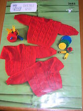 Lovely double knitting pattern for baby/childs cardigan and jumpers 20 - 26 inch