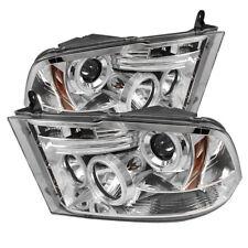 Per Dodge 09-16 RAM Cromo CCFL Doppio Halo LED Proiettore Fari Lampada