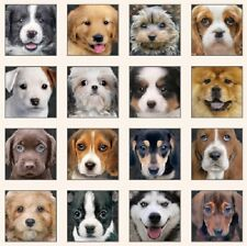ADORABLE PETS DOG BLOCKS FABRIC PANEL