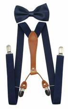 JAIFEI Suspenders  Bowtie Set- Men's Elastic X Band Suspenders + Bowtie For Wed