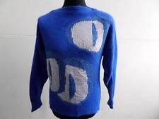 """Vtg Jumper Sweater Crew neck Knited Blue Women Size S 36"""" Chest Grade B LB582"""
