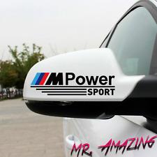 BMW M POWER MPOWER 2 x Aufkleber Aussenspiegel Spiegel Aufkleber Sticker Schwarz