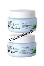 2×Oriflame Love Nature Hydrating Face Cream Aloe Vera& Coconut Water Normal Skin