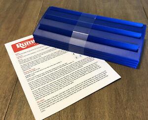 4  Rummikub Replacement Rack Blue Parts/Pieces 3 Tier Pressman Board Game