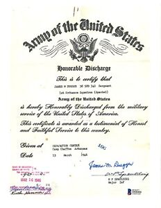 James Dugger Signed Honorable Discharge Document BAS D88000 Manhatten Project