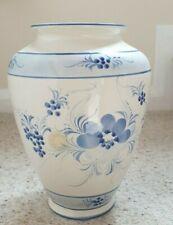 Large Vintage Hand Painted Ceramic Vase