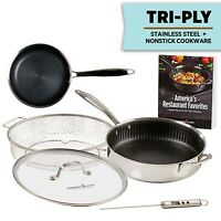 Copper Chef Titan Pan, Tri Ply Stainless Steel Non-Stick Frying Pans, 5 Pcs Set