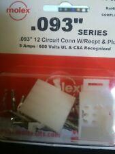 "Molex/Waldom 76650-0056 .093"" 12 Circuit 5 Amps 600V 22-18 Awg"