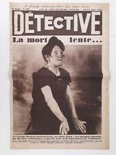 Journal DETECTIVE n°108 (1930) LEPREUX à Valbonne, Colline effondrée à Fourvière