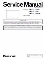 Panasonic TX 65AXW804 65AX800E 65AX800T LED TV Service Manual Repair Guide
