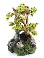 Bonsai On Rocks Aquarium Fish Tank Biorb Ornament 19cm  Decoration 0939 Classic