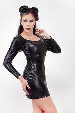 Lycra Disco  Minikleid / Longs Sleeves Lycra Disco Minidress