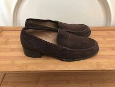 $710 Loro Piana Womens Moccasin Loafers Brown Suede - Sz EU 39